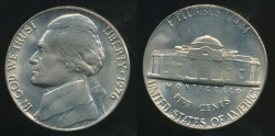 World Coins - United States, 1976 5 Cents, Jefferson Nickel - Uncirculated