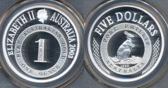 World Coins - Australia, 2003 Five Dollars, $5, Port Phillip (Silver) - PCGS PR70DCAM (Proof)