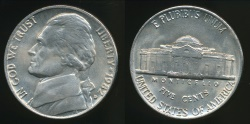 World Coins - United States, 1982-D 5 Cents, Jefferson Nickel - Uncirculated
