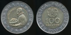 World Coins - Portugal, Republic, 2000 100 Escudos - Uncirculated