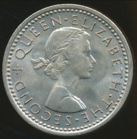 World Coins - New Zealand, 1964 Threepence, Elizabeth II - Choice Uncirculated