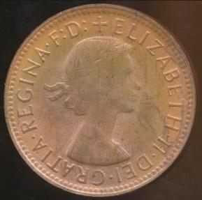World Coins - Australia, 1963(p) Halfpenny, Elizabeth II - Uncirculated