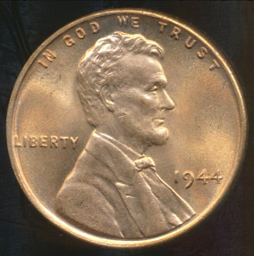 World Coins - United States, 1944 One Cent, Lincoln Wheat - Choice Uncirculated