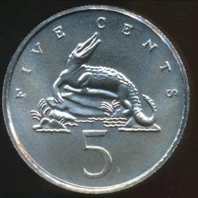 World Coins - Jamaica, Commonwealth, Elizabeth II, 1972FM (M) 5 Cents - Gem Uncircuated