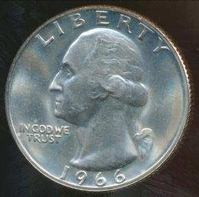 World Coins - United States, 1966-SMS Quarter, 1/4 Dollar, Washington - Proof  Like