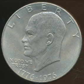 World Coins - United States, 1976 One Dollar, Eisenhower (Type 2) - Uncirculated