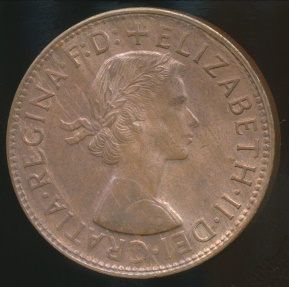 World Coins - Australia, 1963(p) One Penny, Elizabeth II - Uncirculated