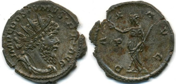 Ancient Coins - POSTUMUS, AE Antoninianus, AD 260-274, Cologne mint, (21mm, 2.65 g), Struck AD 267 - RIC V, Part II, 318