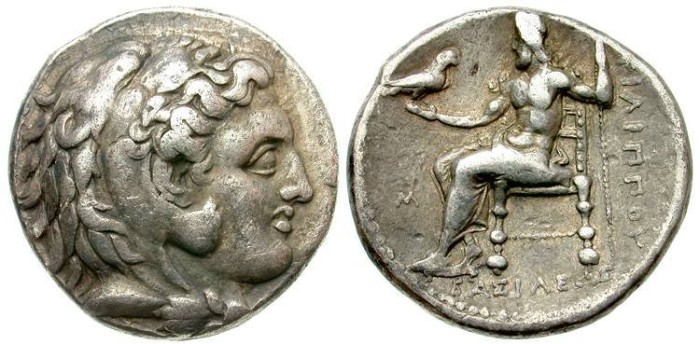 Ancient Coins -  KINGS of MACEDON. Philip III, AR Tetradrachm, 323-317BC (26mm-16.93g). Babylon mint - Price P184