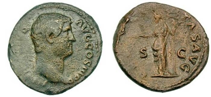 Ancient Coins -  Hadrian, AE As, AD 117-138, Rome mint, (28mm, 11.15 gm) - RIC 803