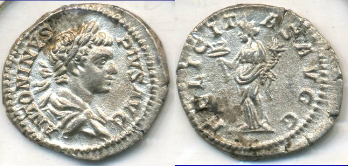 Ancient Coins - CARACALLA, AR Denarius, AD 198-217, Rome mint, (20mm, 3.09 gm) - RIC 127