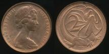 World Coins - Australia, 1967(p) Two Cents, 2c, Elizabeth II - Uncirculated