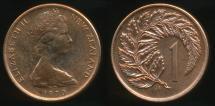 World Coins - New Zealand, 1970 One Cent, 1c, Elizabeth II - Proof Like