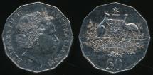 World Coins - Australia, 2001 Fifty Cents, 50c, Elizabeth II (Centenary of Federation) - Uncirculated