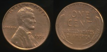 World Coins - United States, 1955 One Cent, Lincoln Wheat - Extra Fine
