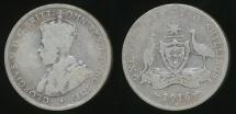 World Coins - Australia, 1916(m) Florin, 2/-, George V (Silver) - Good/Poor