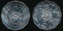 World Coins - Australia, 2016 Fifty Cents, 50c, Elizabeth II (50th Anniversary of Decimal Currency) - Uncirculated