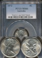 World Coins - Australia, 1973 Canberra 5 Cent, Elizabeth II - PCGS MS66