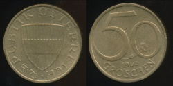 World Coins - Austria, Republic, 1982 50 Groschen - Uncirculated