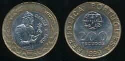 World Coins - Portugal, Republic, 1999 200 Escudos - Uncirculated