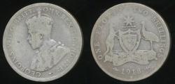 World Coins - Australia, 1918(m) Florin, 2/-, George V (Silver) - Good/Poor