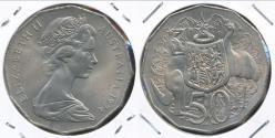 World Coins - Australia, 1974 Fifty Cents, 50c, Elizabeth II - Uncirculated