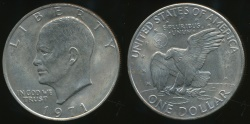 World Coins - United States, 1971 One Dollar, Eisenhower - Uncirculated
