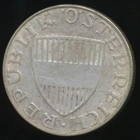 World Coins - Austria, Republic, 1958 10 Schilling (Silver) - Very Fine