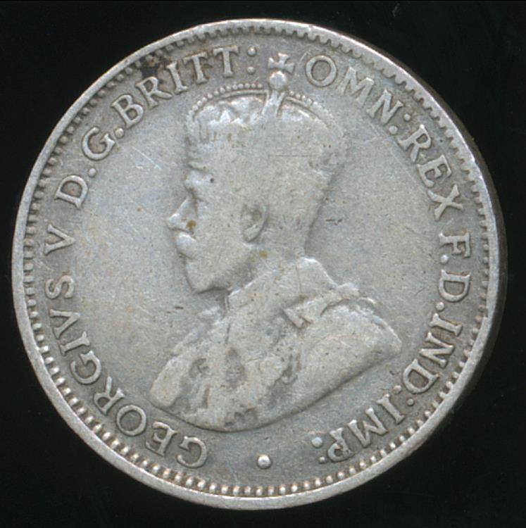 Australia, 1934 Threepence, 3d, George V (Silver) - Very ...