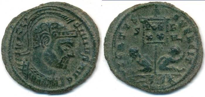 Ancient Coins - LICINIUS I, AE-Follis, AD 308-324, Siscia mint, Struck 320 AD, (21mm, 2.64 gm) - RIC VII 121