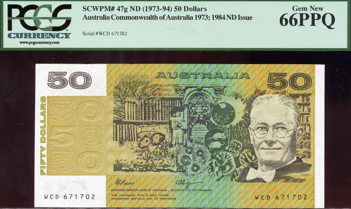 World Coins - Australia - $50 Fraser-Higgins, (1990) R512 - PCGS 66PPQ