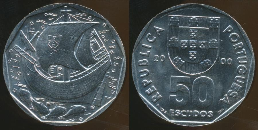 World Coins - Portugal, Republic, 2000 50 Escudos - Uncirculated
