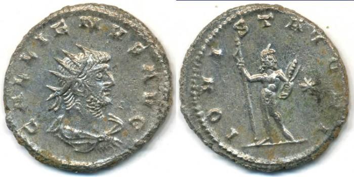 Ancient Coins - GALLIENUS, Silvered Antoninianus, AD 253-268, Antioch mint, (22mm, 4.05 gm) - RIC V, Part I 644