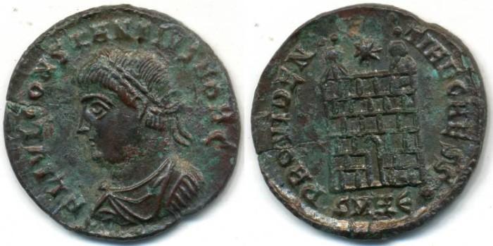 Ancient Coins - CONSTANTIUS II. AE-3, AD 337-361, Heraclea - RIC VII, 84