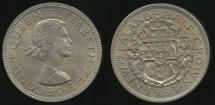 World Coins - New Zealand, 1963 1/2 Crown, Elizabeth II - Uncirculated
