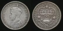 Australia, 1927 Florin, 2/-, George V (Canberra)(Silver) - Good