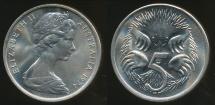 World Coins - Australia, 1974 5 Cents, Elizabeth II - Choice Uncirculated