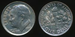World Coins - United States, 1990-P Dime, Roosevelt - Uncirculated