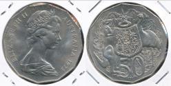 World Coins - Australia, 1973 Fifty Cents, 50c, Elizabeth II - Uncirculated