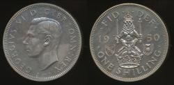 World Coins - Great Britain, Kingdom, 1950 Shilling, 1/-, George VI (Scottish crest) - Proof