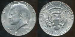 World Coins - United States, 1981-D Half Dollar, Kennedy - Uncirculated