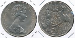World Coins - Australia, 1972 Fifty Cents, 50c, Elizabeth II - Uncirculated