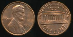 World Coins - United States, 1971 One Cent, 1c, Lincoln Memorial - Uncirculated