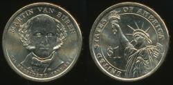 World Coins - United States, 2008-D Martin Van Buren Presidential Dollar, $1 - Uncirculated