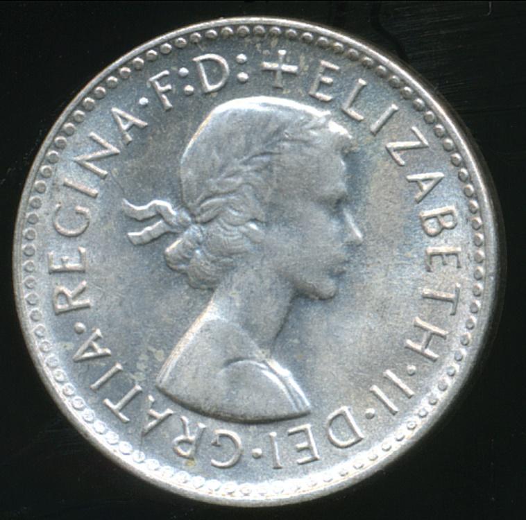AUSTRALIA 1960 QUEEN ELIZABETH II SILVER THREEPENCE 3d COIN