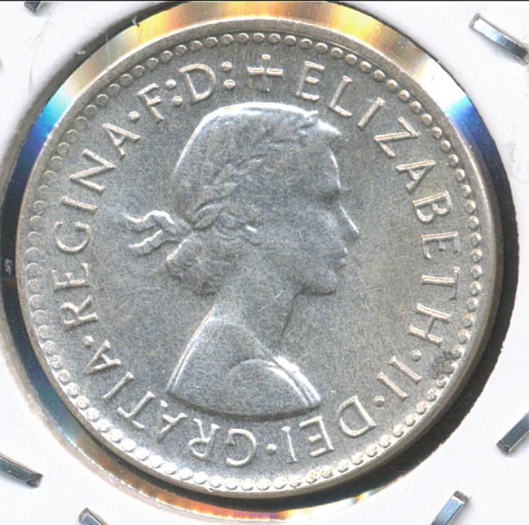 very Nice 1960  Australia Queen Elizabeth II Silver 3d Threepence