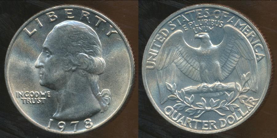 United States, 1978 Quarter Dollar, Washington - Uncirculated