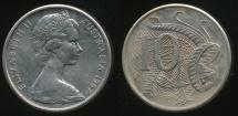 World Coins - Australia, 1967 Ten Cents, 10c, Elizabeth II - Uncirculated