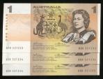 World Coins - Australia, 1974 One Dollar, $1, Phillips/Wheeler, R75 (Run of 3) - almost Uncirculated