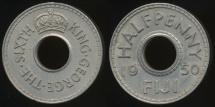 Fiji, Republic British Administration, 1950 Halfpenny, 1/2d, George VI - good Extra Fine